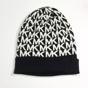 Michael Michael Kors Black and White Beanie Hat